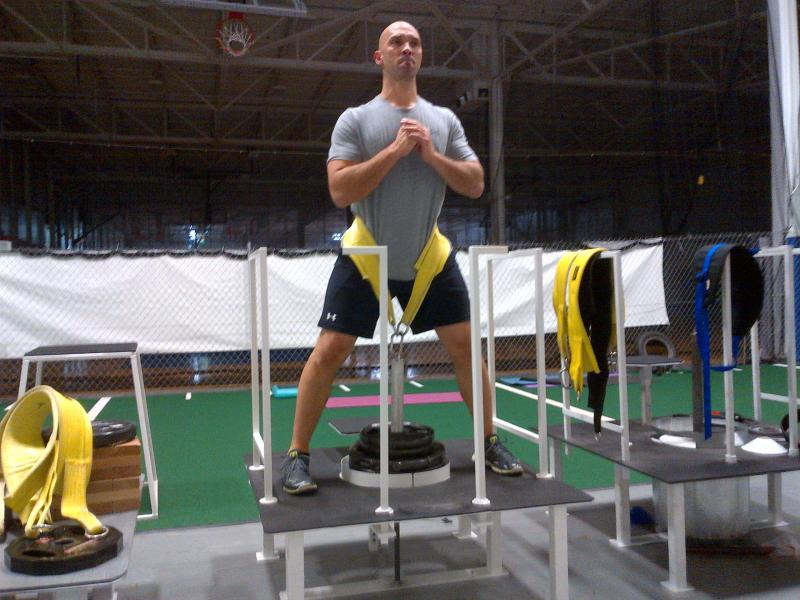MLB's Raul Ibanez working out on Belt Squat invented at OverAchieve!
